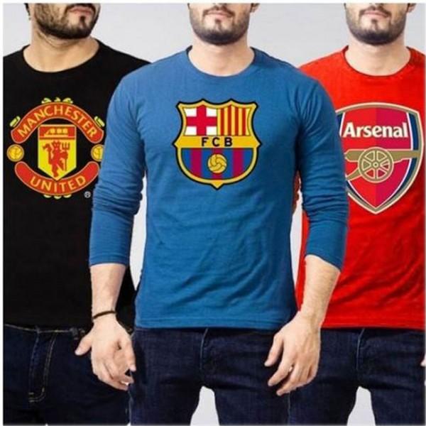 Pack of 03 Full Sleeves Soccer T shirt