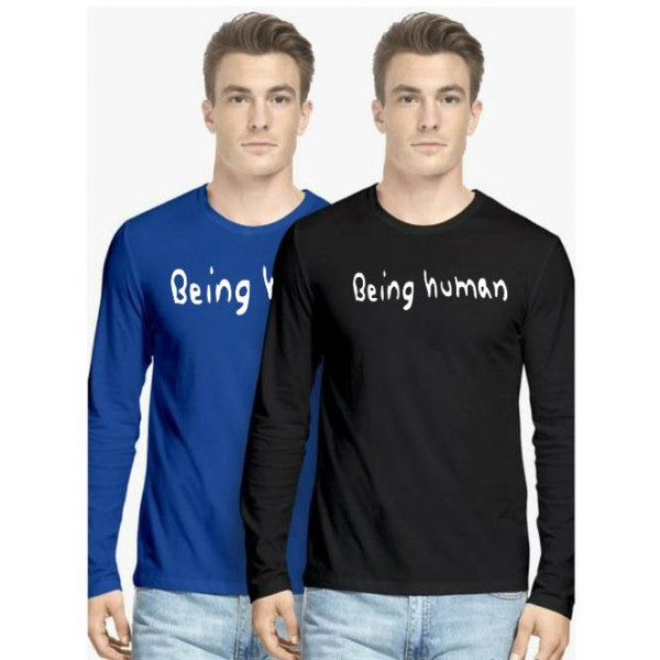 Pack of 02 Full Sleeves Being human T shirts