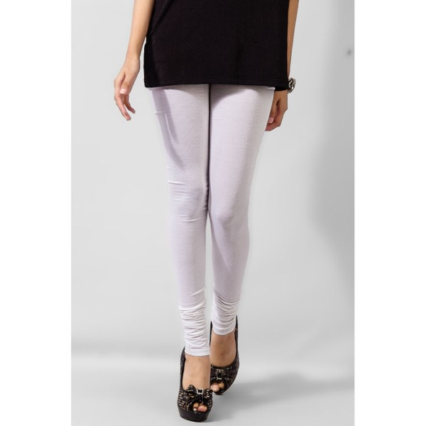 White Plain Viscose Tights for Her