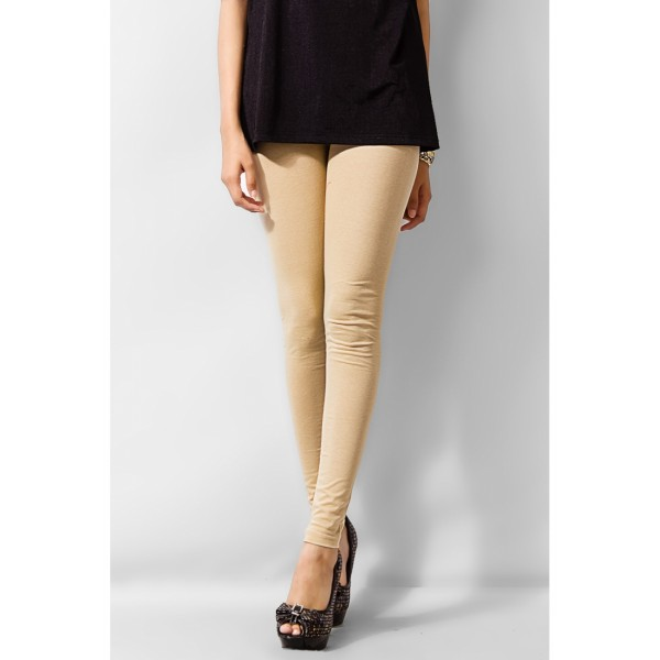 Plain Beigh Color Viscose Tight For Her