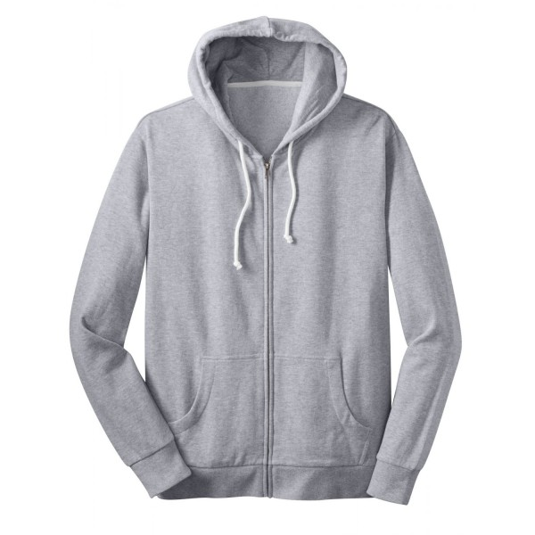 Mens Heather Grey Zipper Hoodie