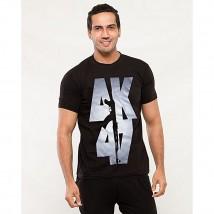 Black AK-47 Printed T shirt For Him