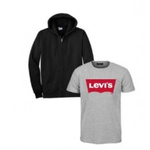 Bundle of Hoodie and Grey round neck T shirts