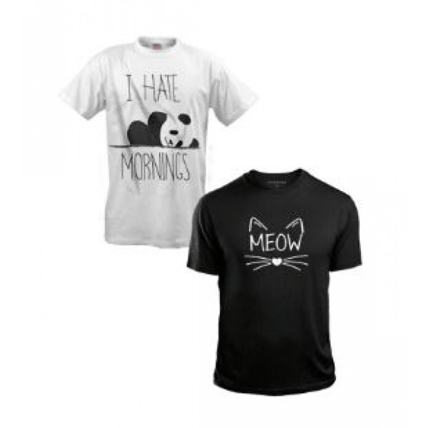Pack of 02 comfortable Cotton Printed T shirts For Her