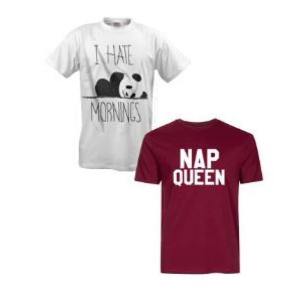 Pack of 02 Cotton Printed T shirts For Her
