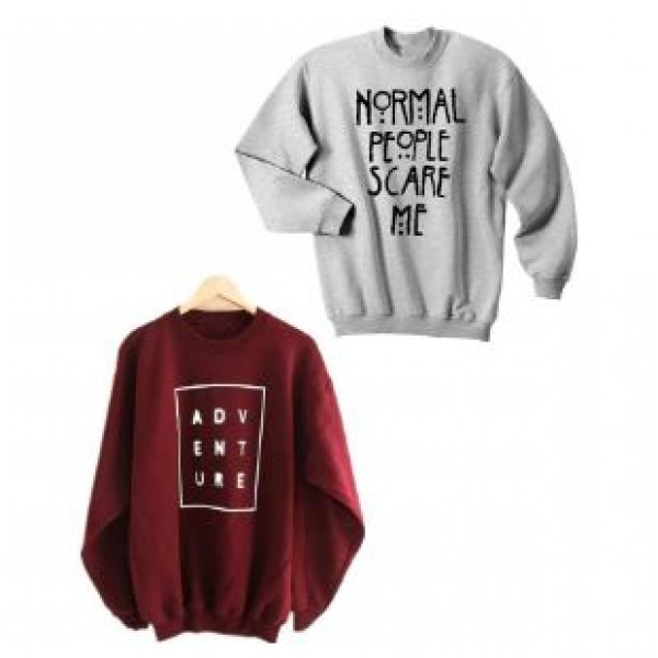Pack of 02 Printed Sweat Shirts in Grey and Maroon Color