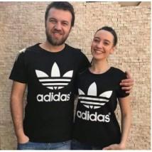 Adidas Printed T shirt Bundle For Couple