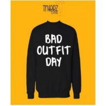 Black BAD OUTFIT DAY Printed Sweat Shirt