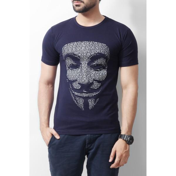 Navy Blue Vendetta Tshirt for Him