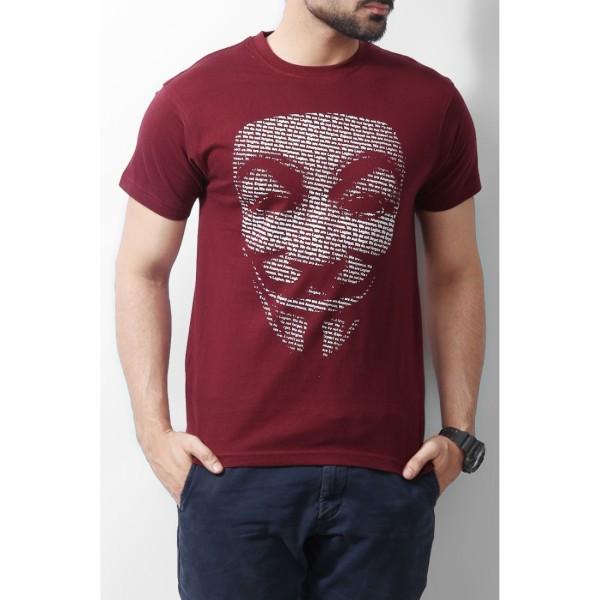 Maroon Vendetta Tshirt for Him