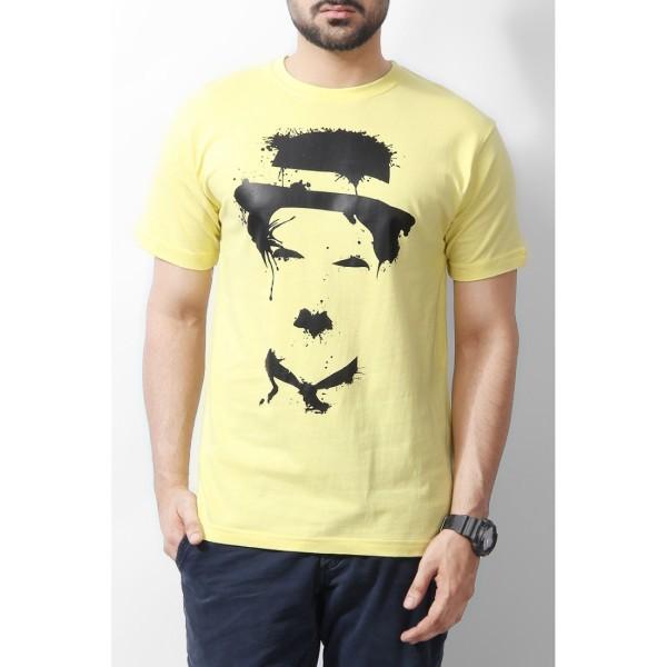 Charlie Cotton Printed Yellow Tshirt