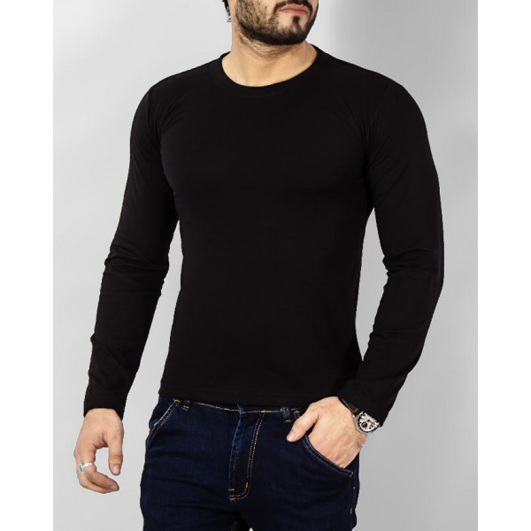 Black Full Sleeve Tshirt for Men
