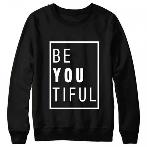 Black Be-You-Tiful Printed Sweat Shirt