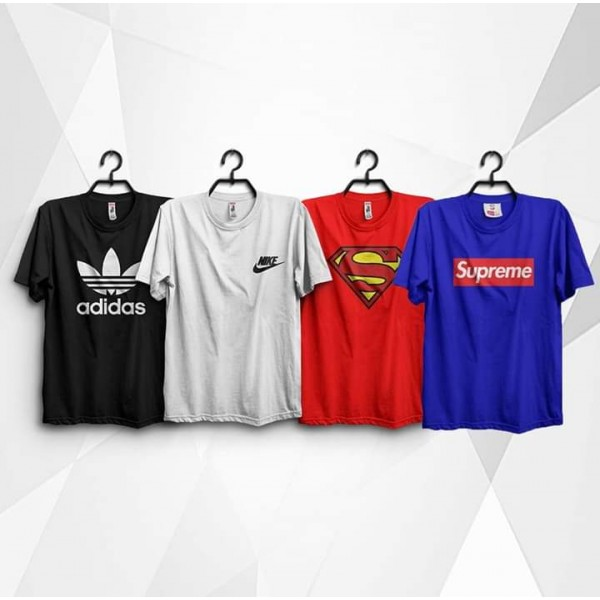 Pack of 04 Printed Cotton T shirts