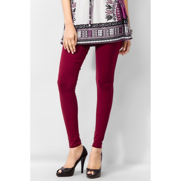 Maroon Viscose Tight For Her