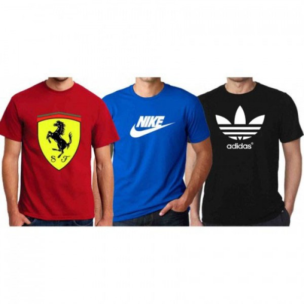 Pack of 03 Graphics Cotton T shirts