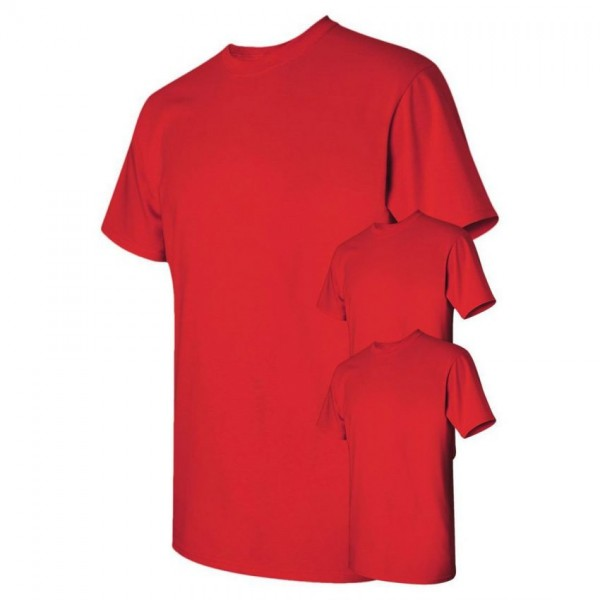 Bundle Offer Pack of 3 Plain Red T-shirts