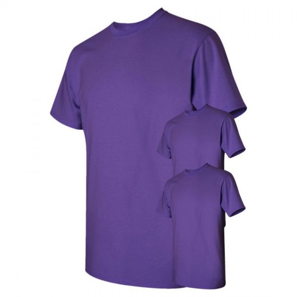 Bundle Offer Pack of 3 Plain Purple T-shirts