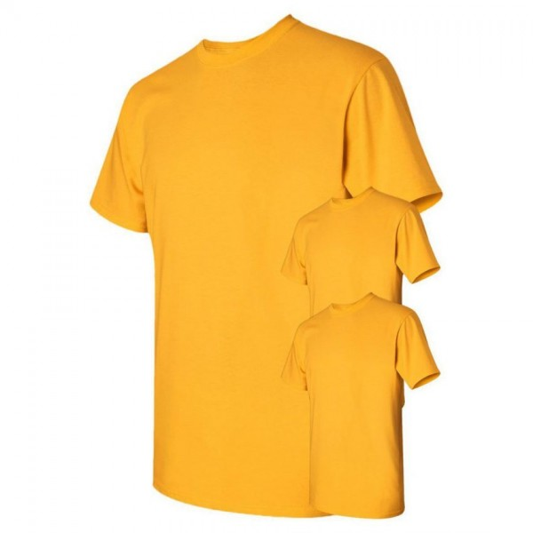 Bundle Offer Pack of 3 Plain Yellow T-shirts