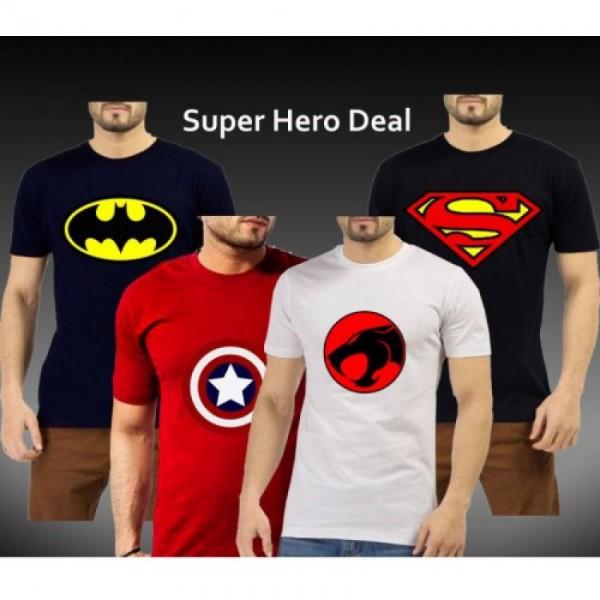 Bundle Offer Pack of 4 Super Heros T-shirts
