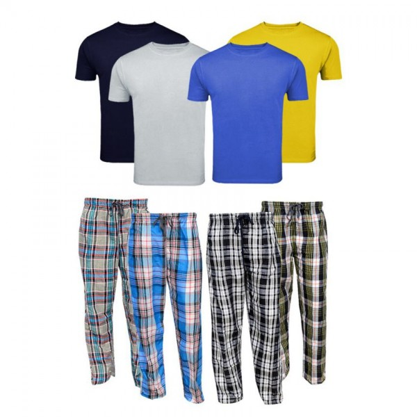 Bundle Offer Pack of 4 T-shirts and Trousers For Men