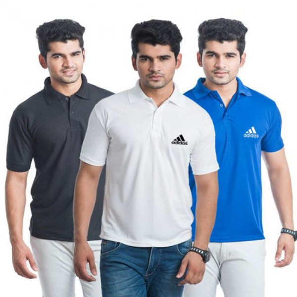 Pack Of 03 Branded Style Polo T-Shirts For Him