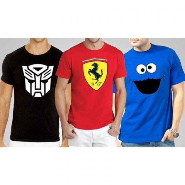 Pack of 03 Funky T-Shirts For Him - MT27