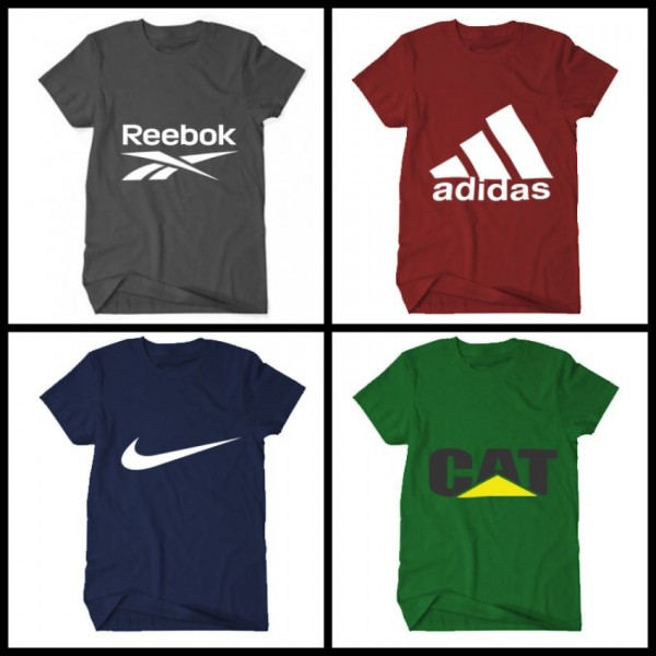 Pack of 04 Branded Style Logo T-Shirts For Him