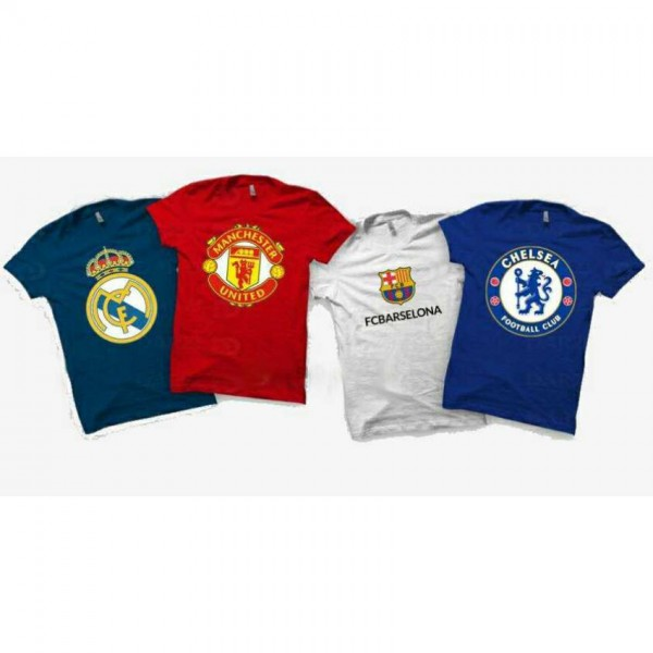 Pack of 04 Football Club T-Shirts For Him