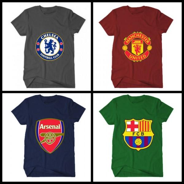 Pack of 04 Football Club Mens T-Shirts