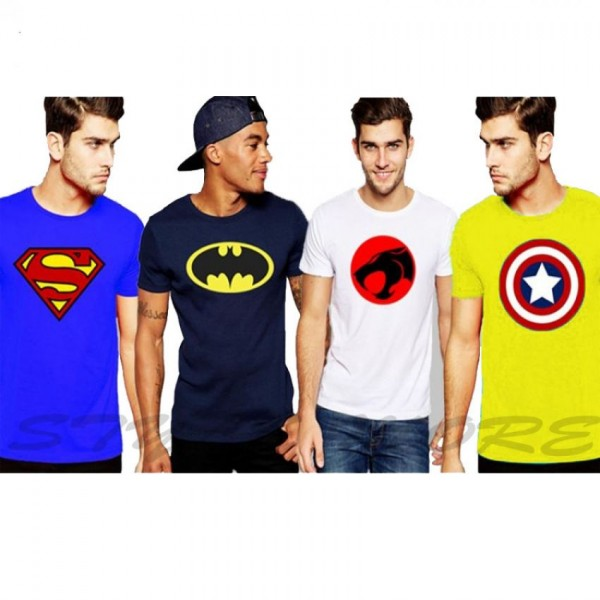 Pack of 04 Super Heros T-Shirts For Him