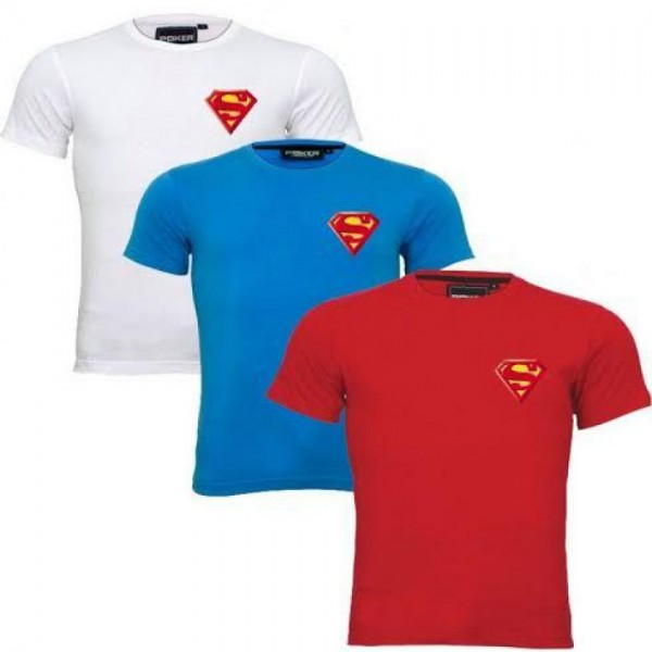 Pack of 03 Superman Logo T-Shirts For Him