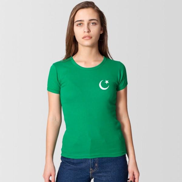 Green Pakistan T shirt For Her
