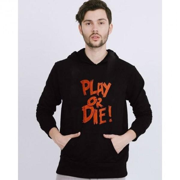 Play Or Die Black Kangaroo hoodie For him