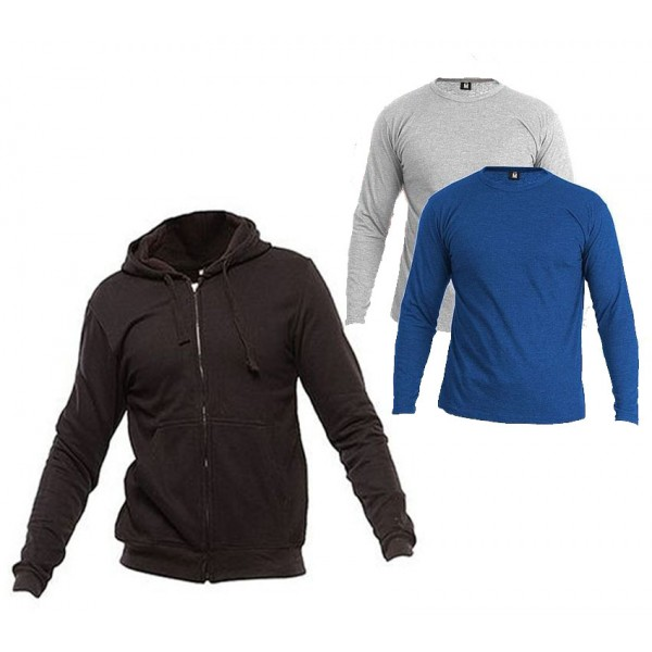 Pack of 03 - 1 Hoodie  2 Full Sleeves T shirts
