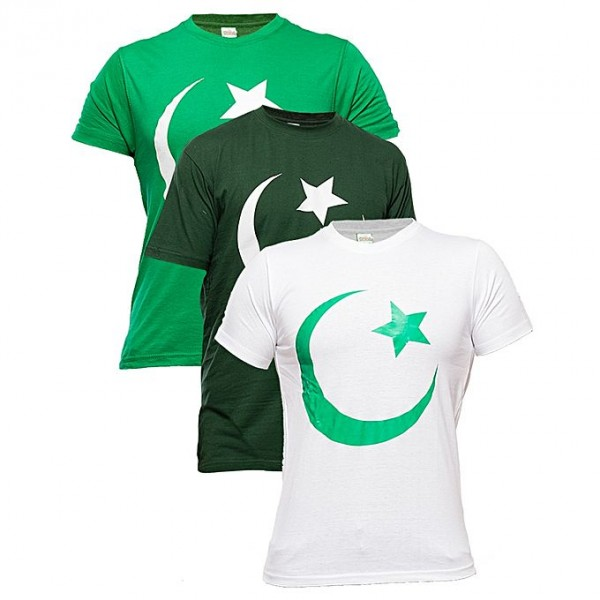 Pack of 03 Pakistan Independence Day Special Tshirts for boys and girls