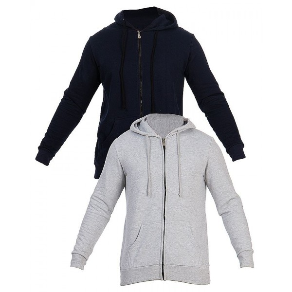 Pack of 02 Hoodies - navy Blue and Heather Grey Colour