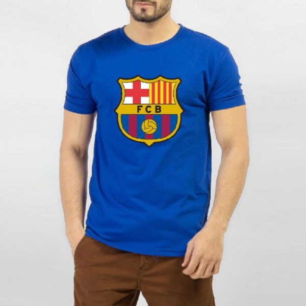 Barcelona Graphics T-shirt for Him in Blue Color