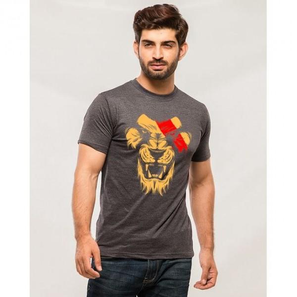 Charcoal Lion Roar Graphics T shirt