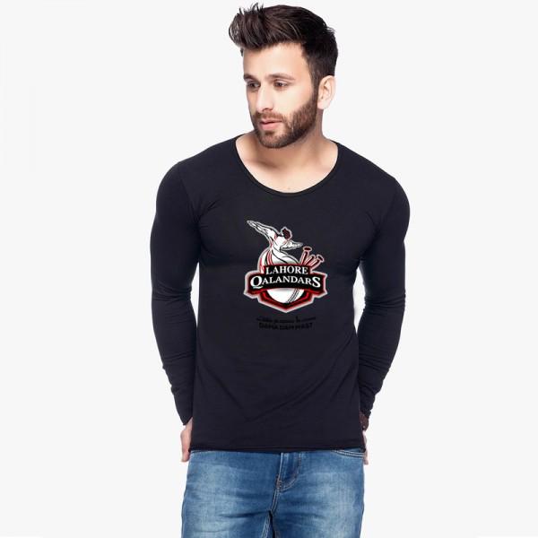 Black Full Sleeves Lahore Qalender Printed T shirt