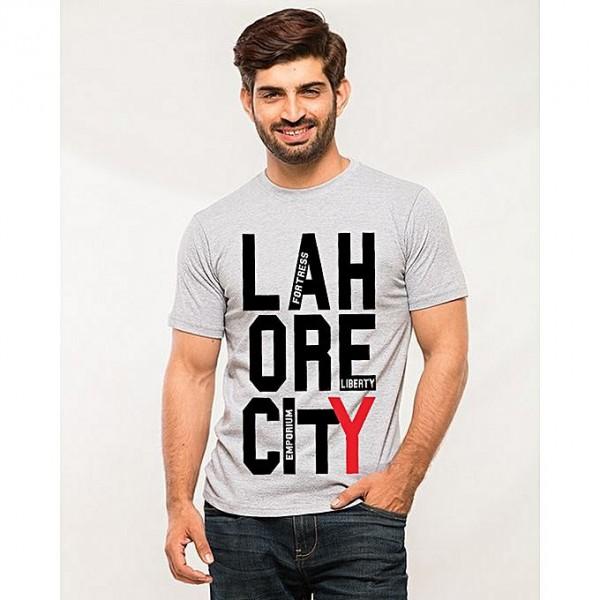 Heather Grey Lahore City Printed T shirt