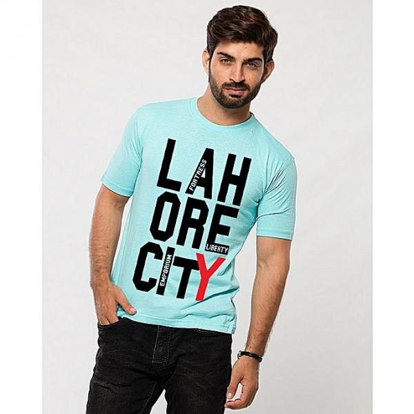Turqoise Lahore City Printed T shirt
