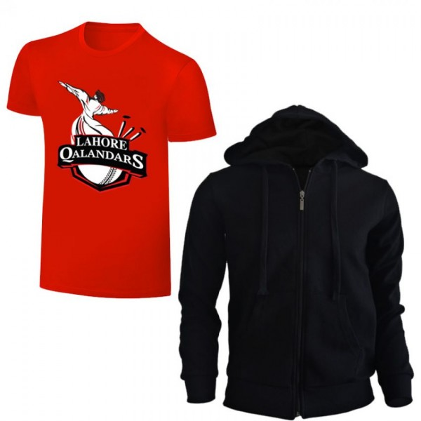 Lahore Qalander PSL hoodie With T shirt