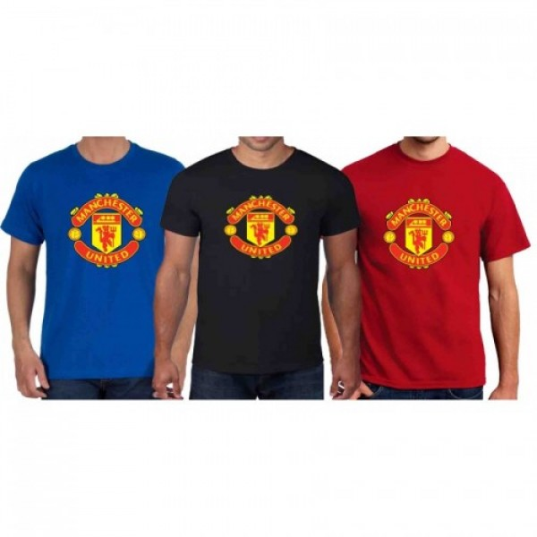 Pack of 03 Manchester T shirts for Him