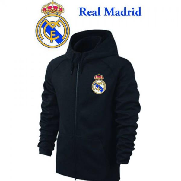 Madrid Logo Black Zipper for men