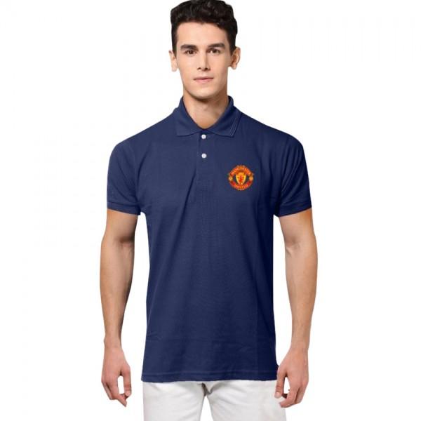 Navy Blue Manchester Logo Polo Shirt