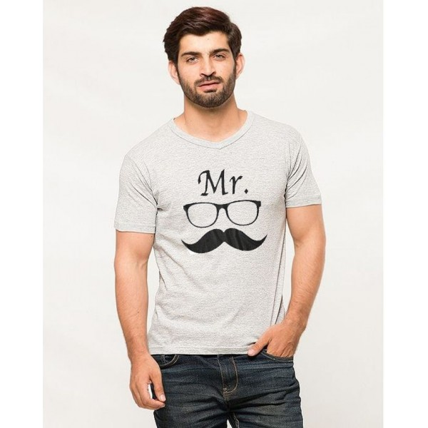 Mr Mustaches Graphics T shirt For him