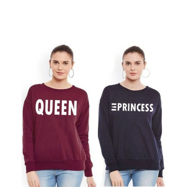 Pack of 02 Printed Sweat Shirt For Her