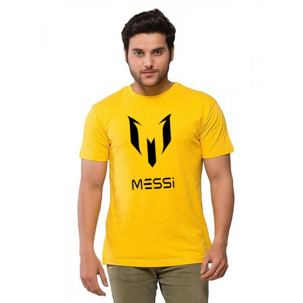 Yellow Messi Printed T shirt For Him