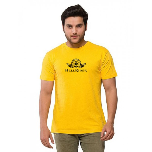 Yellow Hell Rider Printed T shirt For Him